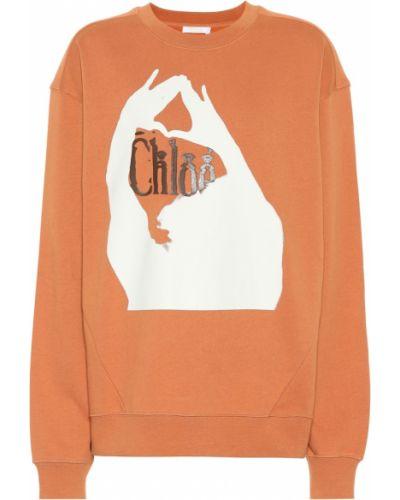 Свитшот оранжевый коричневый Chloé