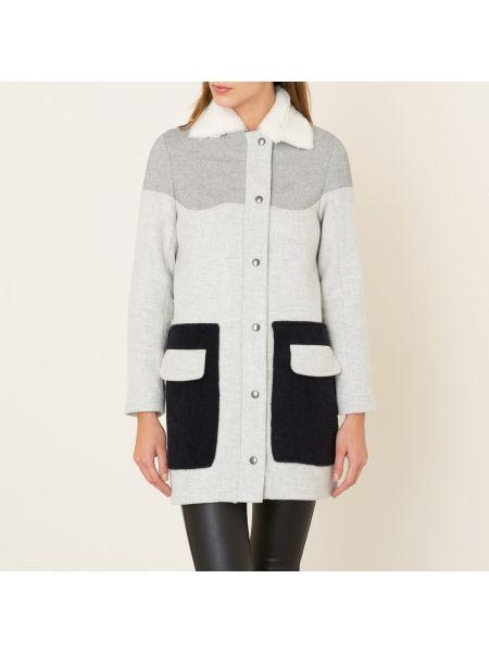 Шерстяное пальто с воротником на кнопках с подкладкой Margaux Lonnberg