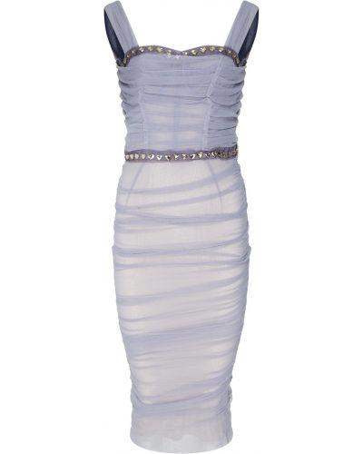 Коктейльное платье со складками с драпировкой Dolce&gabbana