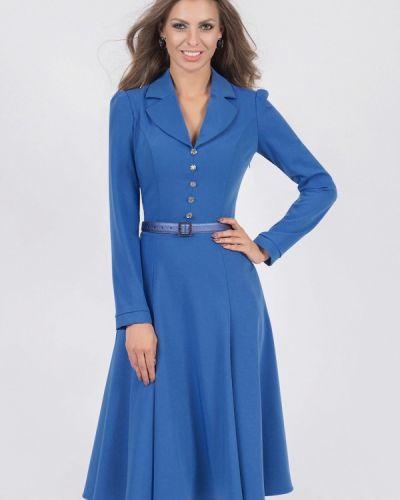 Платье миди осеннее синее Olivegrey