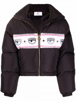 Черная дутая куртка Chiara Ferragni