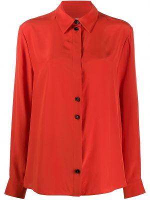 Рубашка с длинным рукавом - красная Jil Sander