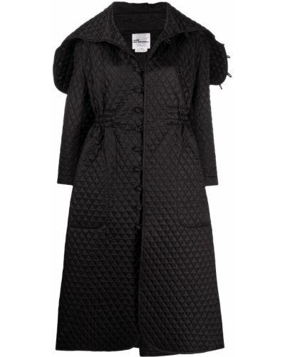 Черное стеганое длинное пальто оверсайз Comme Des Garçons Noir Kei Ninomiya