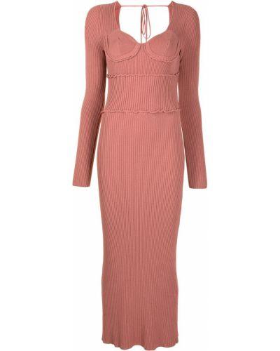 Трикотажное розовое платье макси с вырезом Altuzarra