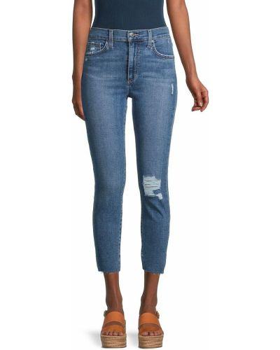 Синие зауженные укороченные джинсы с карманами Joe's Jeans