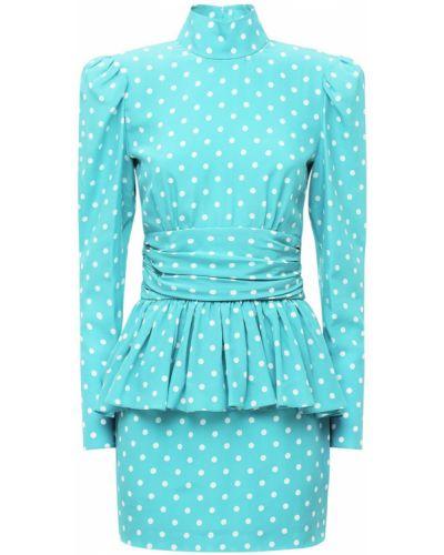 Открытое шелковое платье мини с открытой спиной Alessandra Rich