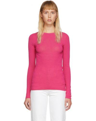 Розовый свитер с воротником Ami Alexandre Mattiussi