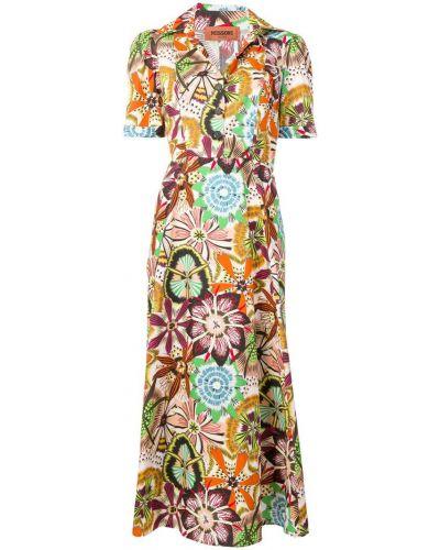 Платье мини на пуговицах с цветочным принтом Missoni