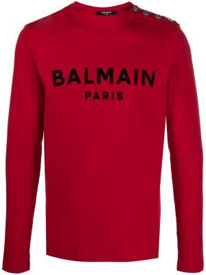 Bawełna prosto czarny koszula na przyciskach Balmain