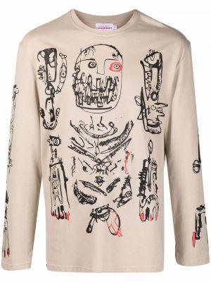 Beżowa t-shirt z printem Charles Jeffrey Loverboy
