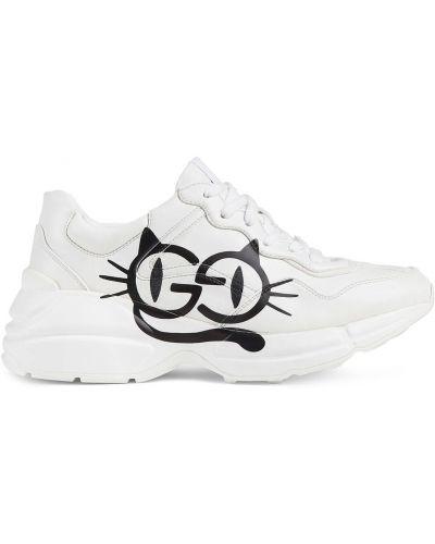 Sneakersy - białe Gucci