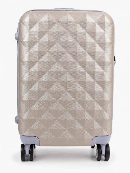 Бежевый чемодан Polar