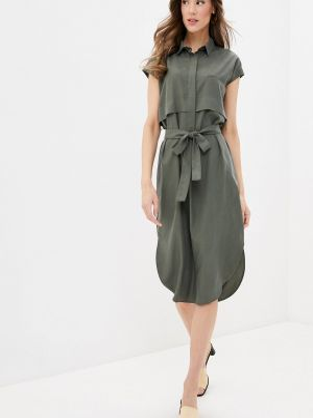 Платье платье-рубашка зеленый Savage