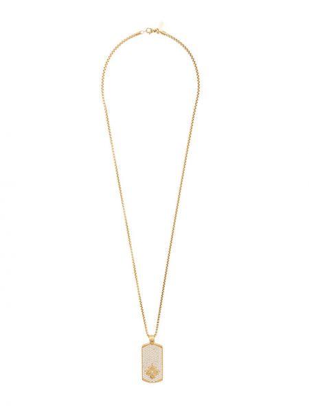 С цирконием желтая цепочка с подвесками круглая Nialaya Jewelry