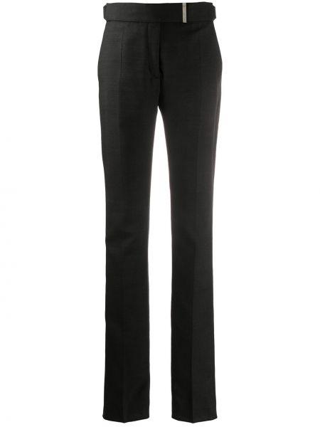 Spodnie z wysokim stanem z kieszeniami czarne Tom Ford