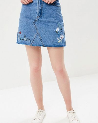 Голубая джинсовая юбка Incity