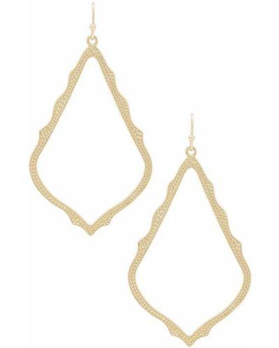 Серьги-гвоздики золотые с камнями позолоченные Kendra Scott