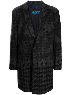Черное пальто с лацканами Kiton