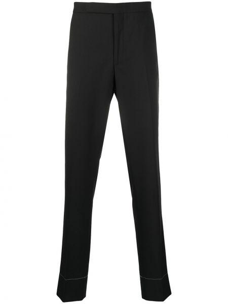 Прямые черные брюки с карманами Ralph Lauren Purple Label
