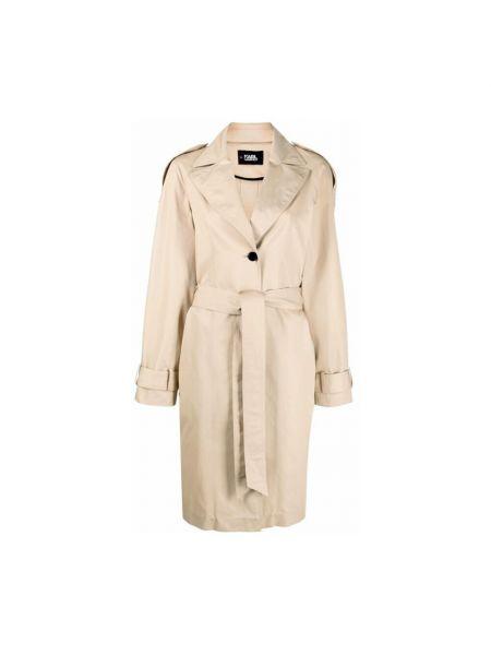 Beżowy płaszcz Karl Lagerfeld