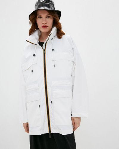 Облегченная белая куртка K-way