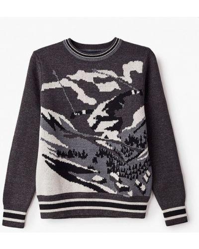Расклешенный свободный серый свитер Finn Flare