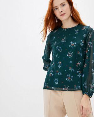 Блузка с длинным рукавом зеленый красная Incity