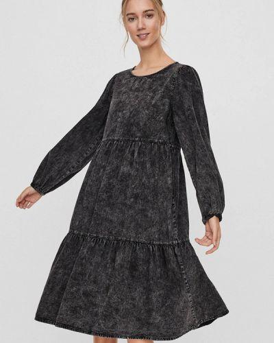 Черное джинсовое платье Vero Moda