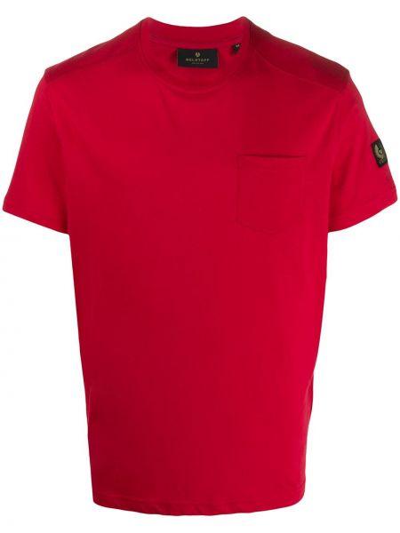 Bawełna koszula krótkie z krótkim rękawem z kieszeniami z łatami krótkie rękawy Belstaff