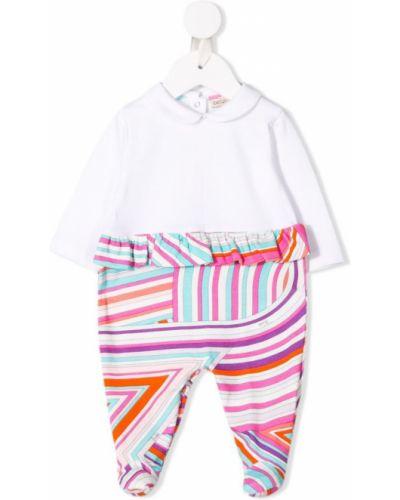 Пижама белая с воротником Emilio Pucci Junior