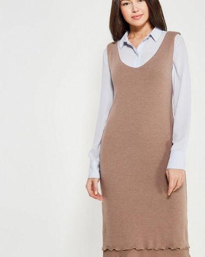 Коричневое платье Lavlan