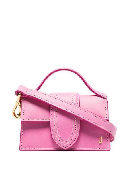 Розовая кожаная сумка на плечо Jacquemus