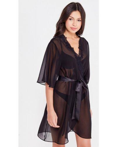 Черный халат домашний Mia-mia
