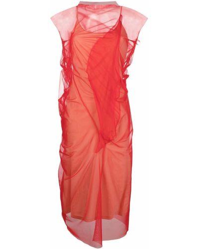 Платье трапеция - красное Maison Margiela