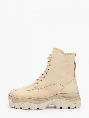 Кожаные ботинки - бежевые Bronx