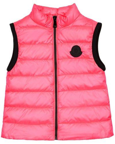 Różowa kamizelka z nylonu Moncler