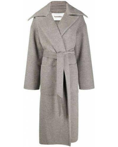 Szary płaszcz Nanushka