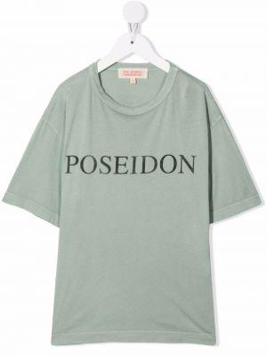 T-shirt bawełniany z printem krótki rękaw The Animals Observatory