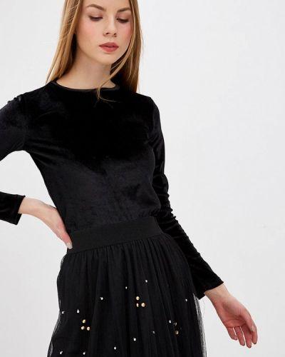 Блузка с длинным рукавом черная Tzetze