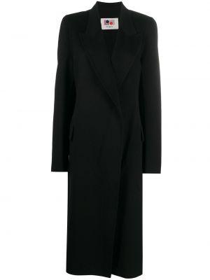 Черное однобортное шерстяное пальто на пуговицах Ports 1961
