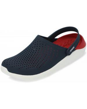 Пляжные спортивные синие с ремешком пляжные шлепанцы Crocs