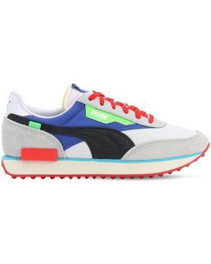 Białe sneakersy skorzane sznurowane Puma Select