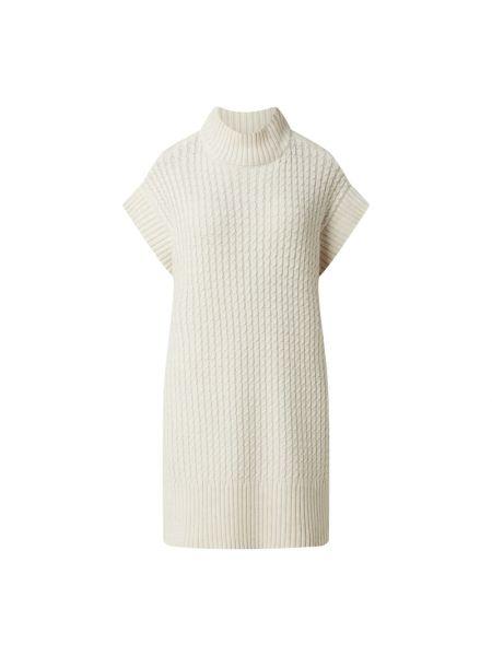 Biała sukienka wełniana Moss Copenhagen