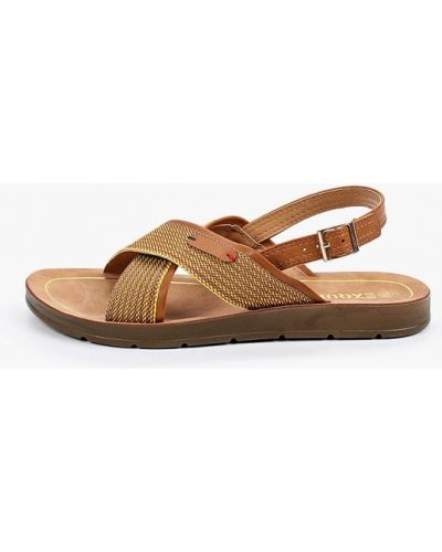 Коричневые кожаные сандалии Exquily