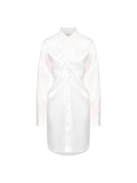 Блузка белая сатиновая Bottega Veneta