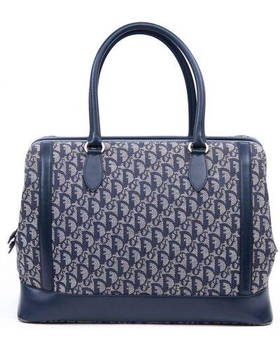 Niebieska torebka srebrna Christian Dior