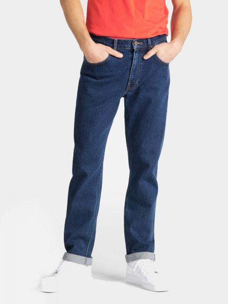 Прямые синие джинсы классические с высокой посадкой Lee
