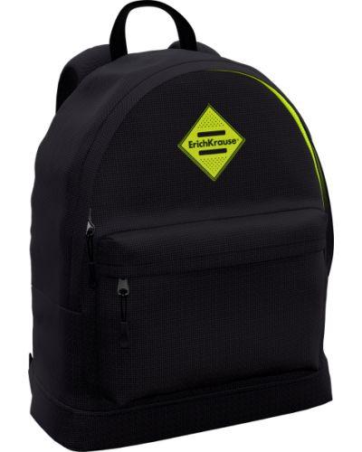 Школьный черный ранец на молнии с карманами Erich Krause