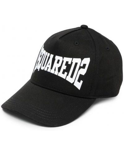 Ватная хлопковая черная кепка Dsquared2 Kids
