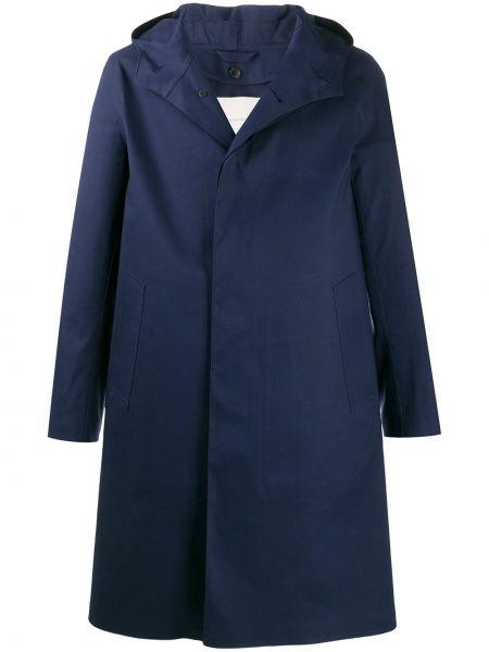 Prochowiec niebieski z kapturem Mackintosh